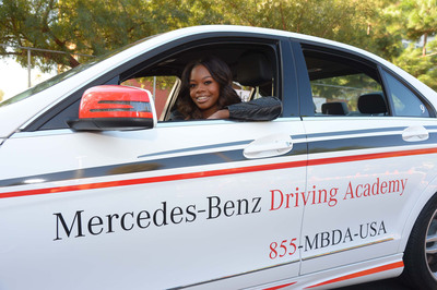 Gabrielle Douglas at Mercedes-Benz Driving Academy National Teen Driver Safety Week Event.  (PRNewsFoto/Mercedes-Benz USA)