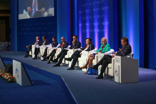 The Plenary session at Astana Economic Forum, May 25-26, 2016RW-   azel.kussainova@gmail.com (PRNewsFoto/Astana  ...