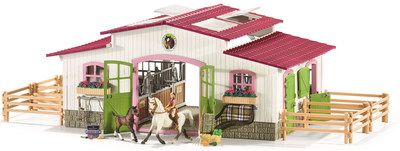 Riding Centre with Rider & Horses from Schleich