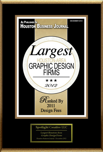 Spotlight Creative, LLC® Selected For 'Largest Houston-Area Graphic Design Firms'
