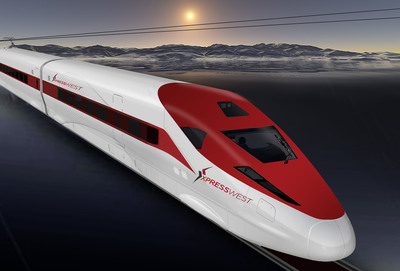 "DesertXpress Enterprises has renamed its Las Vegas to Southern California high-speed rail service ""XpressWest"" to more accurately reflect its role as the first leg of a larger western high-speed passenger rail network.  (PRNewsFoto/DesertXpress Enterprises)"