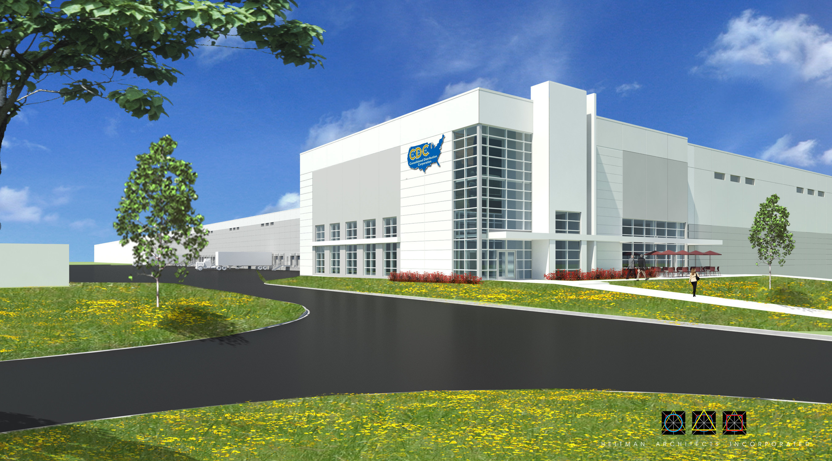 Ridge Development, the industrial development arm of Transwestern Development Co., has broken ground on two buildings in RidgePort Logistics Center for the new headquarters of Consolidated Distribution Corporation (CDC). The foodservice supply chain logistics company is relocating from Lemont and combining five distribution locations into preleased space: a rail-served, 111,244-square-foot freezer build-to-suit and 286,867 square feet of a 574,867-square-foot (expandable to 1,078,867 square feet) ambient distribution facility. Owned by a joint venture between Ridge and Elion Partners LLC, the buildings are slated for delivery in October 2015. For more information, visit the RidgePort website at ridgeportlogisticscenter.com.