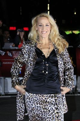 """Jerry Hall attends the premiere of """"Crossfire Hurricane"""" during the 56th BFI London Film Festival at Odeon Leicester Square on October 18th, 2012. Photo by Invision."""