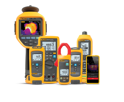 The Fluke Connect system allows maintenance technicians to wirelessly transmit measurement data from their test tools to their smart phones for secure storage on the cloud and universal team access from the field. More than 20 Fluke tools connect wirelessly with the app, including digital multimeters, infrared cameras, insulation testers, process meters, and specific voltage, current and temperature models.  (PRNewsFoto/Fluke Corporation)