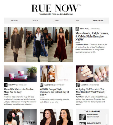 RUE NOW: Your 24/7 Fashion Feed