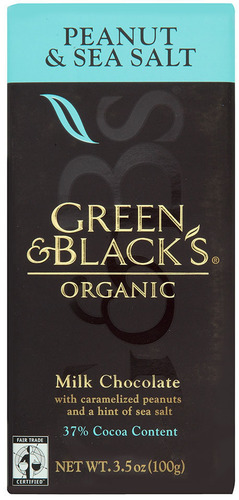Green & Black's Organic Peanut & Sea Salt Milk Chocolate Bar.  (PRNewsFoto/Mondelez International, Inc.)