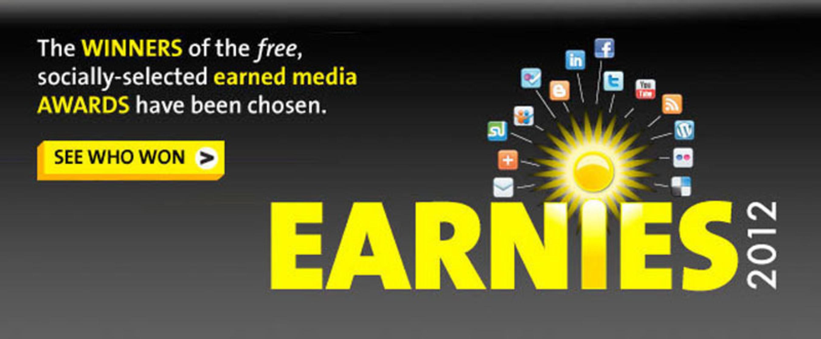 PR Newswire Announces the 2012 Earnies Award Winners (www.agilitycommunity.com).  (PRNewsFoto/PR Newswire Association LLC)