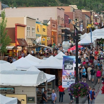 The 45th annual Park City Kimball Arts Festival happens August 1st through August 3rd on Park City's Historic Main Street. Visit www.parkcitykimballartsfestival.org for festival details. (PRNewsFoto/The Kimball Art Center)