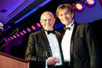 Omron President & CEO Ranndy Kellogg received the Golden Heart Honors award at this year's HealthCorps gala hosted by Dr. Mehmet Oz