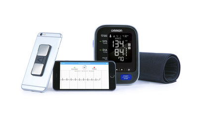 The Omron and AliveCor family of products pictured as AliveCor introduces the first iOS app combining ECG and blood pressure to manage heart health.
