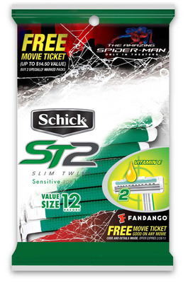 "Shave More, Get More: Schick ST2(R) and Slim Twin(R) Give Away Free Tickets to ""The Amazing Spider-Man(TM)"".  (PRNewsFoto/Schick)"