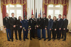 Washington, D.C., USA - March 24, 2016: Graduates of the Institute for Defense and Business IU-UNC LogMBA program pose with General Dan Allyn, the Vice Chief of Staff of the Army, who delivered the commencement address for the graduation ceremony held at the Army and Navy Club. Photo by Ian Wagreich / (C) Ian Wagreich Photography