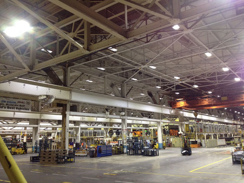 General Motors Lordstown Stamping Plant completes major LED lighting conversion with ALLED High Bays.  (PRNewsFoto/ALLED Lighting Systems, Inc.)