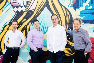 (L-R) Jon Hughes, Gary Rudnick, Matt Neale and Fred Cook announce new CEO+ leadership model for integrated agency, Golin.