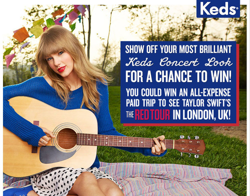 Keds(R) Announces Sponsorship Of Taylor Swift's European 'RED Tour'; Gives Fans The Chance To Win A  ...