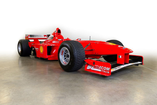 Milton Verret's 1998 Ferrari F300 Formula One (F1) racing car, driven by F1 World Champion Michael ...