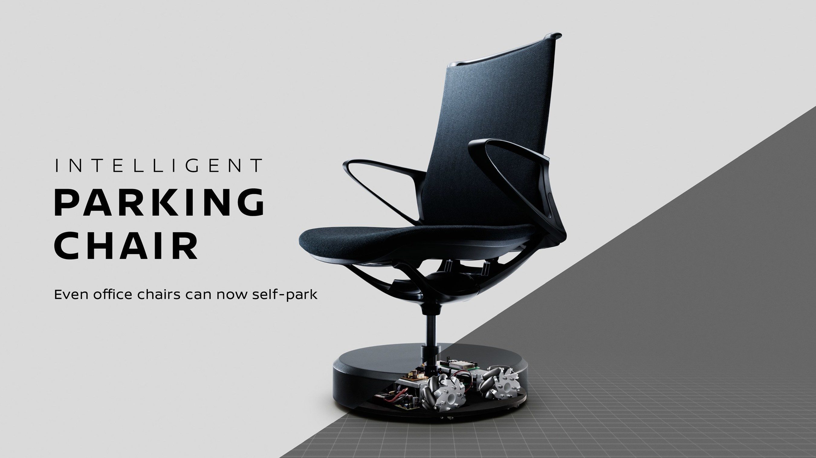 "The ""Intelligent Parking Chair"" is inspired by Nissan's ""Intelligent Park Assist"" technology."