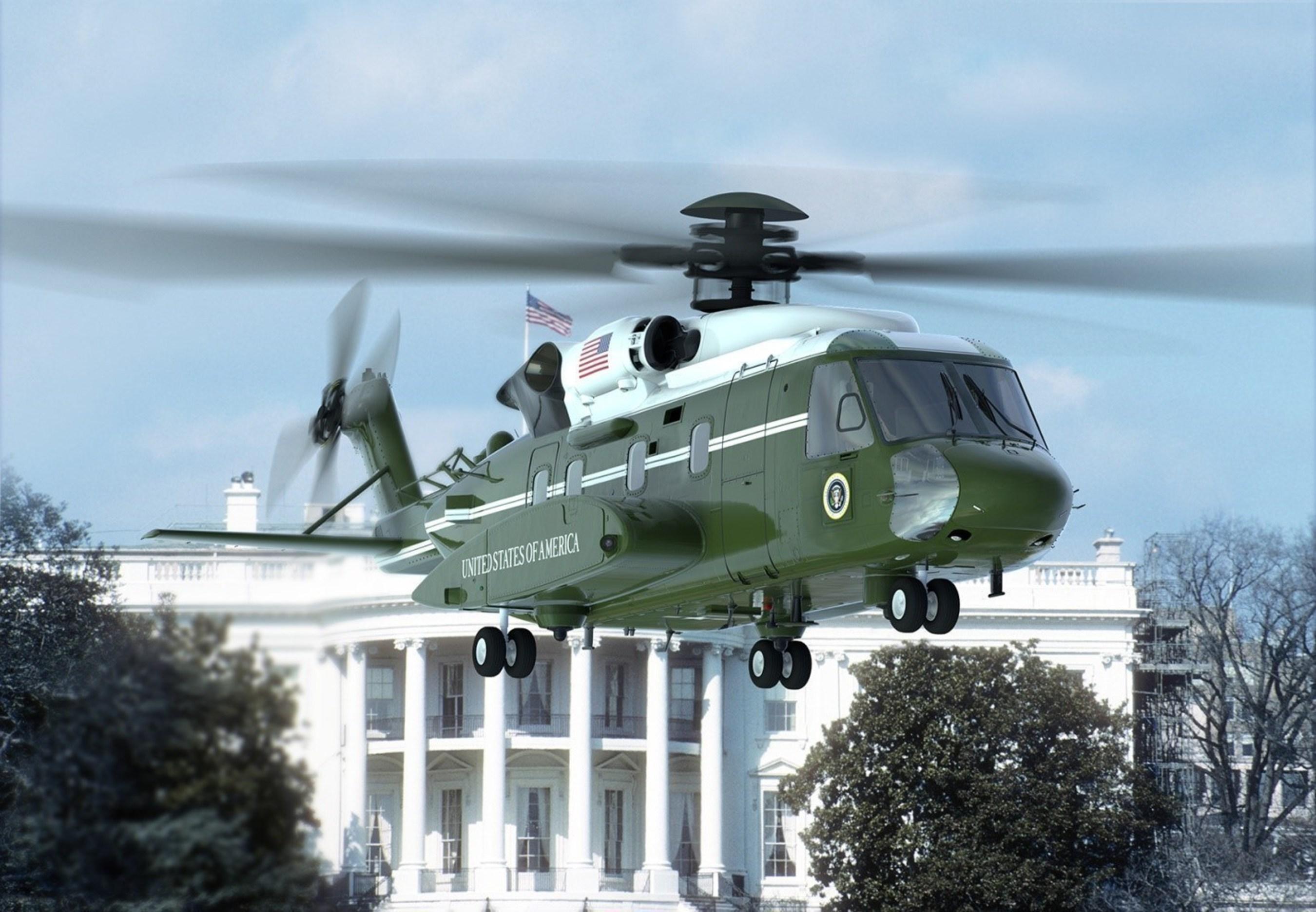 An artist rendering of the VH-92A aircraft.