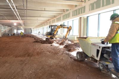 Interior of Elm Street Market in Downtown New Haven, under construction.  (PRNewsFoto/Webster Bank)