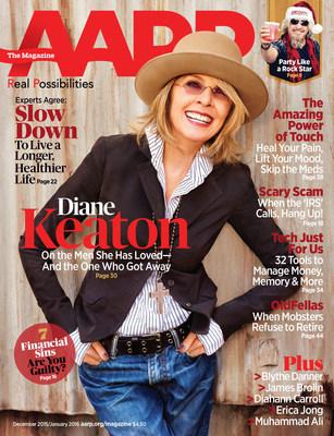 Diane Keaton AARP Cover
