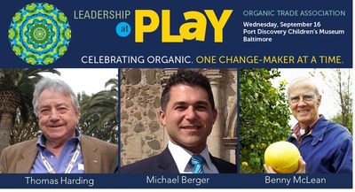 Three organic change-makers will be honored with Organic Leadership Awards