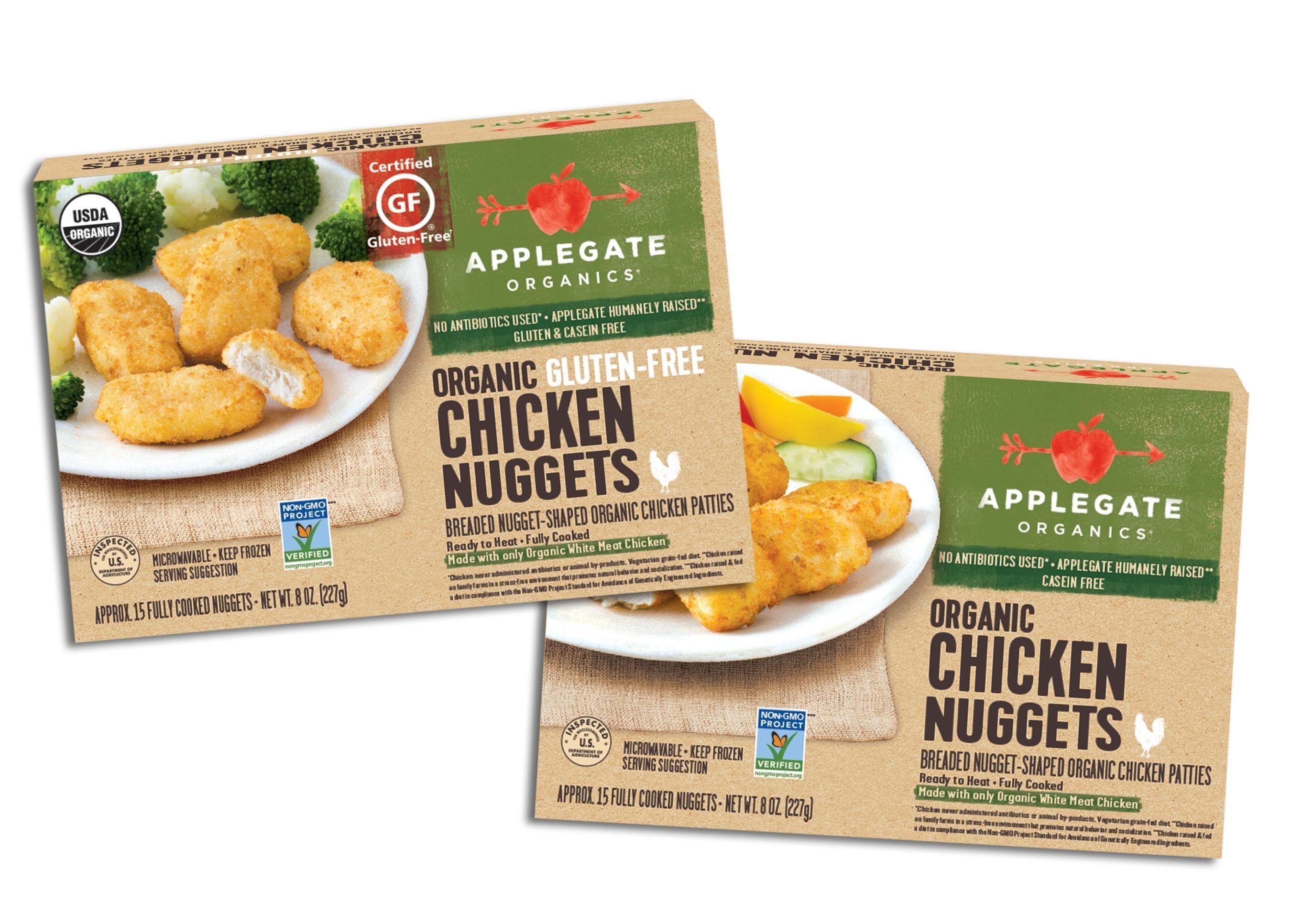 New Applegate Organics Gluten-free Chicken Nuggets and Applegate Organics Chicken Nuggets