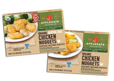 New Applegate Organics Gluten-free Chicken Nuggets and Applegate Organics Chicken Nuggets