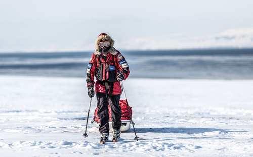 Eric Larsen training for the Last North Expedition in Svalbard, Norway.  (PRNewsFoto/SMAK Strategies)