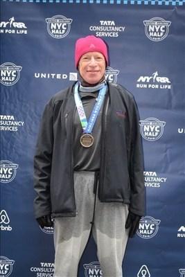 Elie Hirschfeld Runs United Airlines NYC Half Marathon