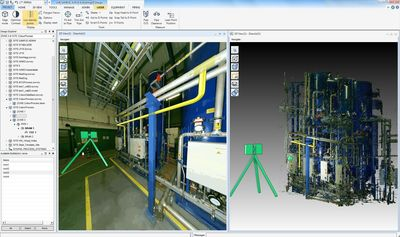 Laser scanning technology integrated with design modelling in AVEVA Everything3D (E3D) (PRNewsFoto/Aveva Group Plc)