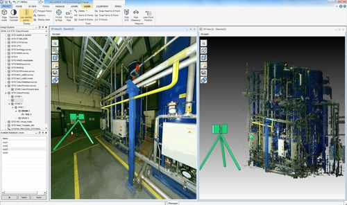 Laser scanning technology integrated with design modelling in AVEVA Everything3D (E3D) (PRNewsFoto/Aveva Group ...