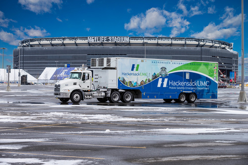 HackensackUHN's Mobile Satellite Emergency Department (MSED), a state-of-the-art mobile hospital created ...