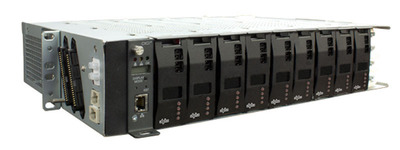 The next generation Cordex HP LPS36 is a compact, modular DC to DC up-converter system designed for powering distributed communications networks using +/-190Vdc (RFT-V circuit) over an existing copper network.  It features modular, high efficiency, quad output converter modules along with an intelligent controller. Applications include powering DSLAM's as well as the Optical Network Terminals in FTTH Networks. The LPS36 can be installed in the Central Office or in a remote OSP cabinet.  (PRNewsFoto/Alpha Technologies Ltd.)