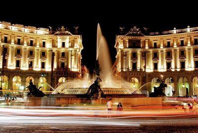 La terrazza del Boscolo Exedra a Roma