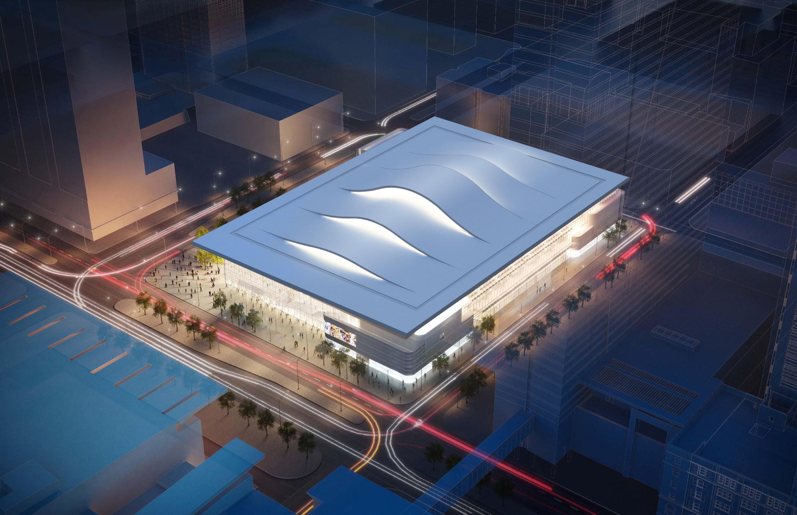 Spatenstich für Pelli Clarke Pelli Architects bei der neuen, 10.000 Plätze umfassenden Arena in