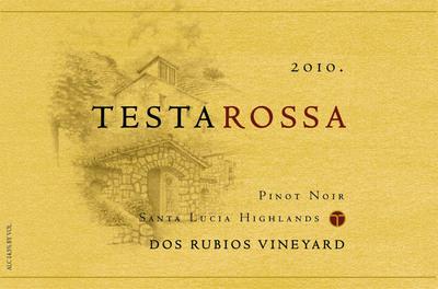 Testarossa Dos Rubios Pinot Noir label.  (PRNewsFoto/Testarossa Winery)