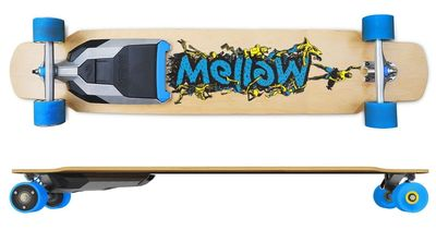 Mellow - The first electric drive that fits under any skateboard. Product Shot. Mellow Electric Drive, Urban mobility, Last Mile Vehicle, Electric Skateboard, Electric Longboard, Mellowboard, Mellow Electric Skateboard (PRNewsFoto/Mellow Boards GmbH)