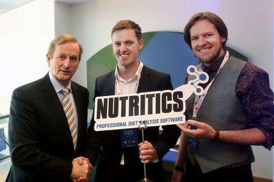 Nutritics Co-Founders Damian and Ciaran O'Kelly with acting Irish Taoiseach Enda Kenny