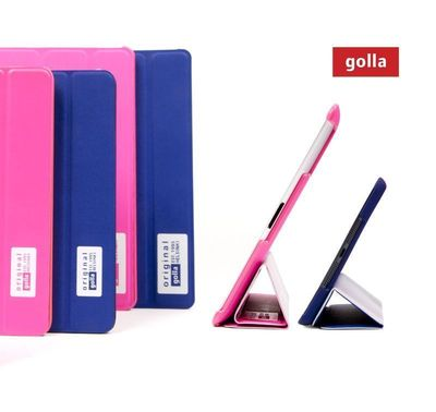 Slim and sporty iPad Snap Folders are custom-molded and have a built in smart stand for easy viewing. For Golla 2013 collection of fashion-forward cases for portable electronics, see www.golla.com.