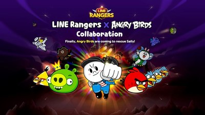 This limited-time collaboration includes characters from Angry Birds appearing in LINE Rangers as both the titular Rangers and also as fearsome bosses.