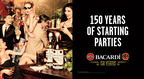 BACARDI Rum - 150 years of starting great parties!  (PRNewsFoto/Bacardi Limited)