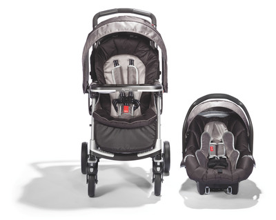 "New from Aprica: Moto Lightweight Travel System offers unique styling and features for every on-the-go parent. Available at Babies""R""Us. www.aprica.com"