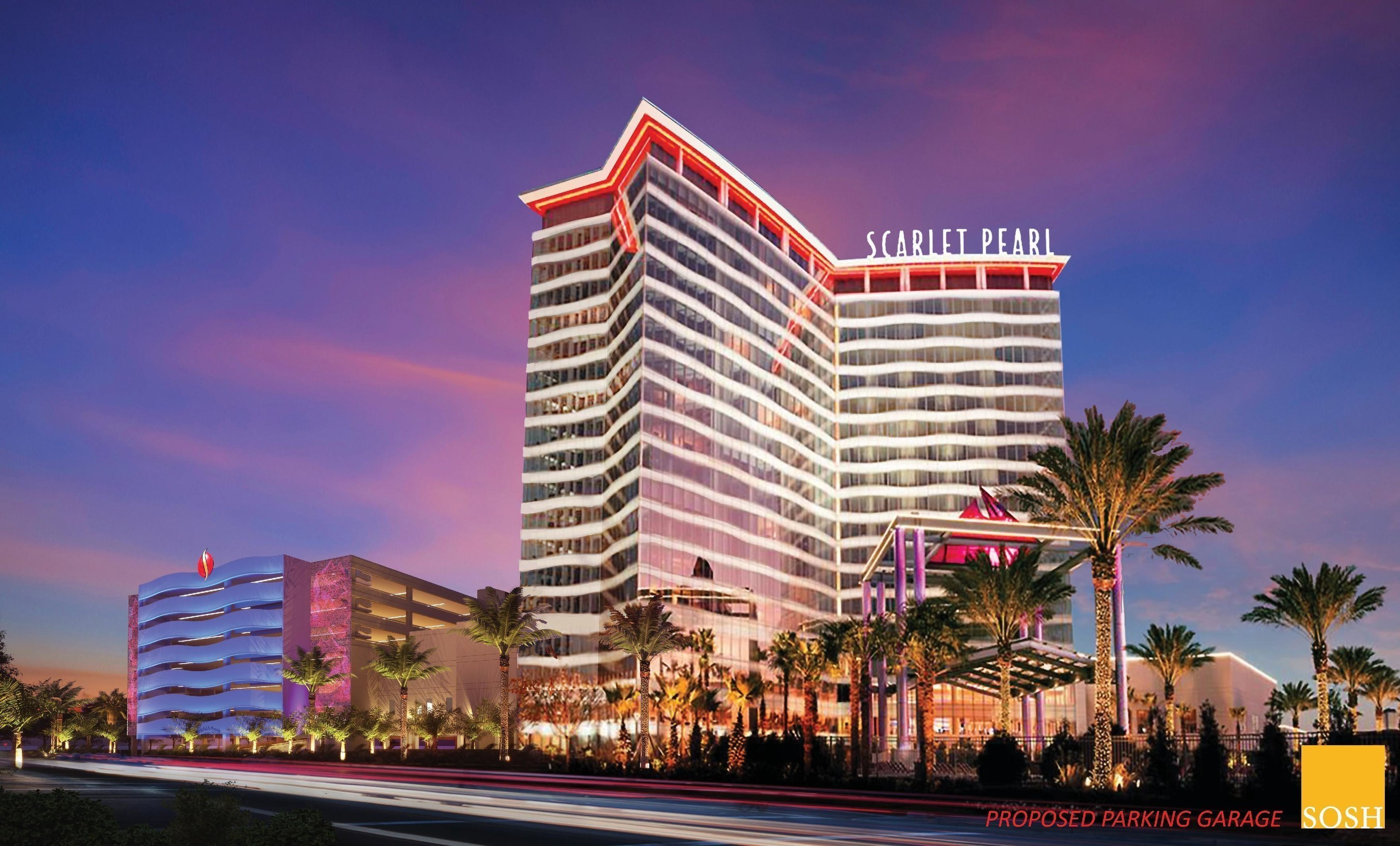 Scarlet Pearl Casino Resort Parking Garage Rendering