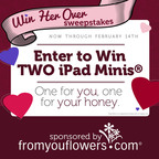 From You Flowers Launches a Valentine's Day Sweepstakes for Your Chance to Win Two iPad Minis(R). Enter Today at FromYouFlowers.com!.  (PRNewsFoto/FromYouFlowers.com)