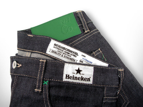 Heineken's #Heineken100 X NEIGHBORHOOD Denim Collaboration.  (PRNewsFoto/HEINEKEN USA Inc.)