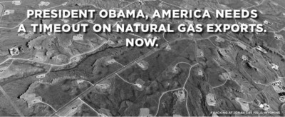 """Time Out"" On LNG Exports Is Sought From Obama Administration.  (PRNewsFoto/Civil Society Institute, Washington, D.C.)"