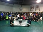 More than 70 wounded veterans and guests learned mixed martial arts at the Gracie Academy in Torrance California
