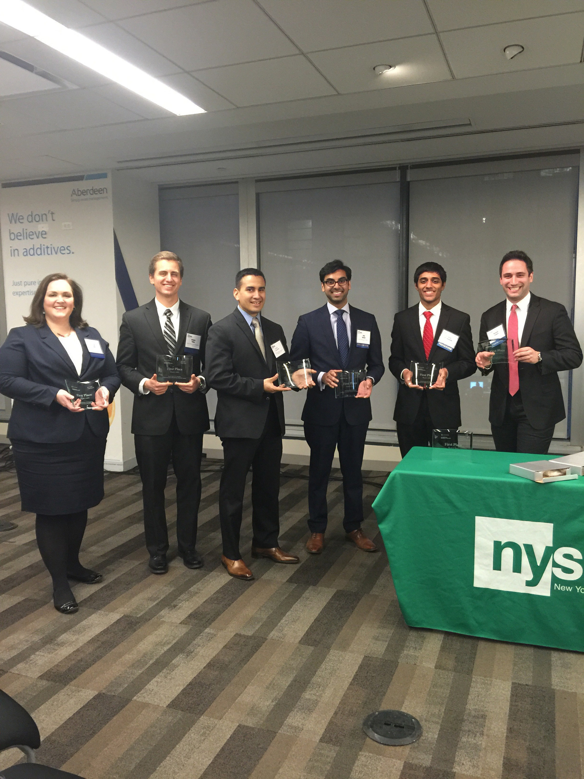 Two students in the Part-Time MBA Program, Matt Fishbein and Susan Smith, helped Rutgers Business School capture the regional Championship of the CFA Investment Research Challenge in 2015.