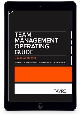 The Team management operating guide by Blaise Goetschin is an efficient tool to support business leaders in their team management efforts. It is also an instrument aimed at training managers. Asking a question in the right way, taking a decision when time is critical, giving instructions, protecting and stimulating action are all part of the daily activity for unit heads and team leaders. Daily activity which calls for a simple and practical method, summarised in this reference guide.