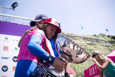 Carissa Moore gets emotional following her first ever world championship Photo credit: Alex Laurel / Red Bull Media House